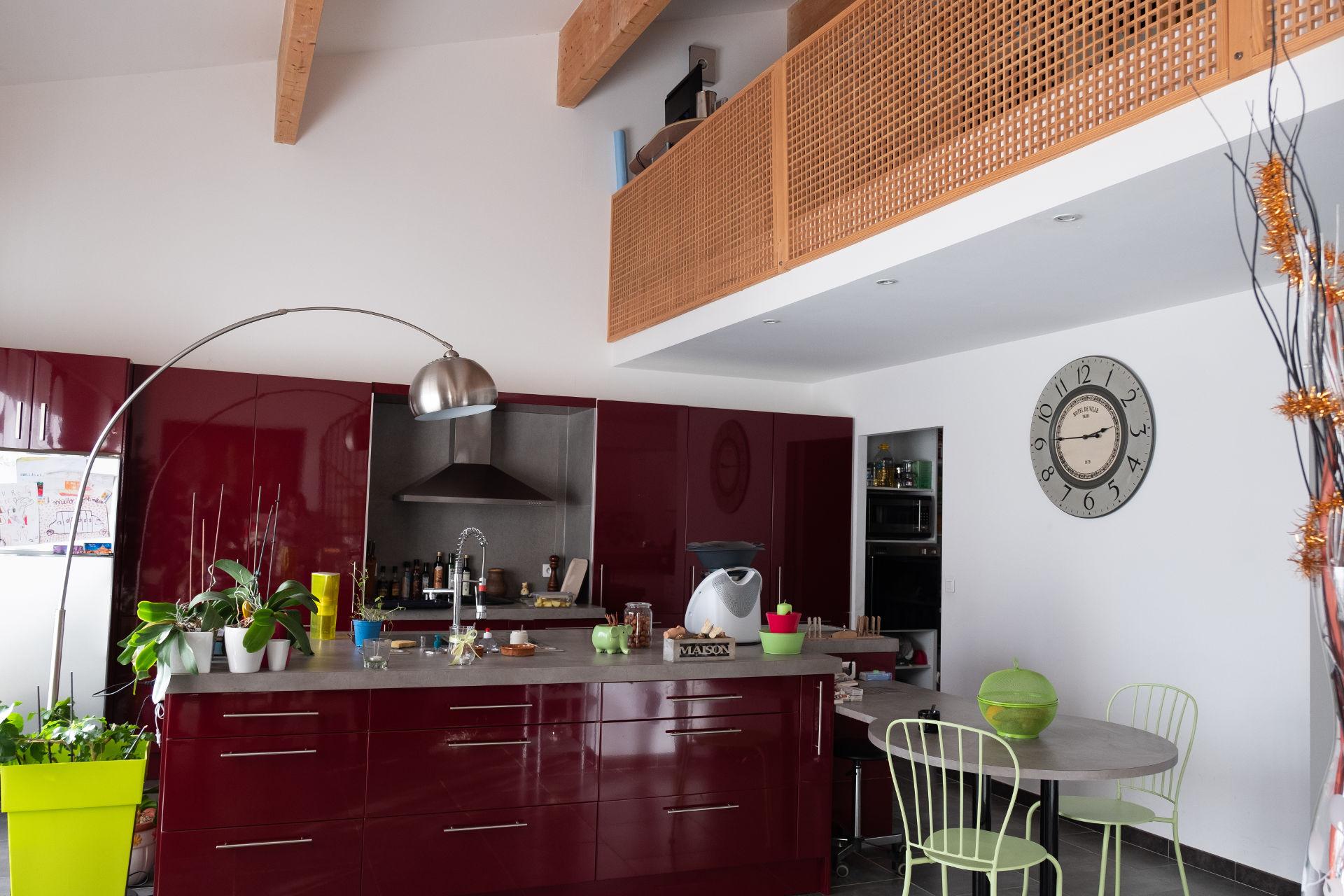 salon et cuisine gîte